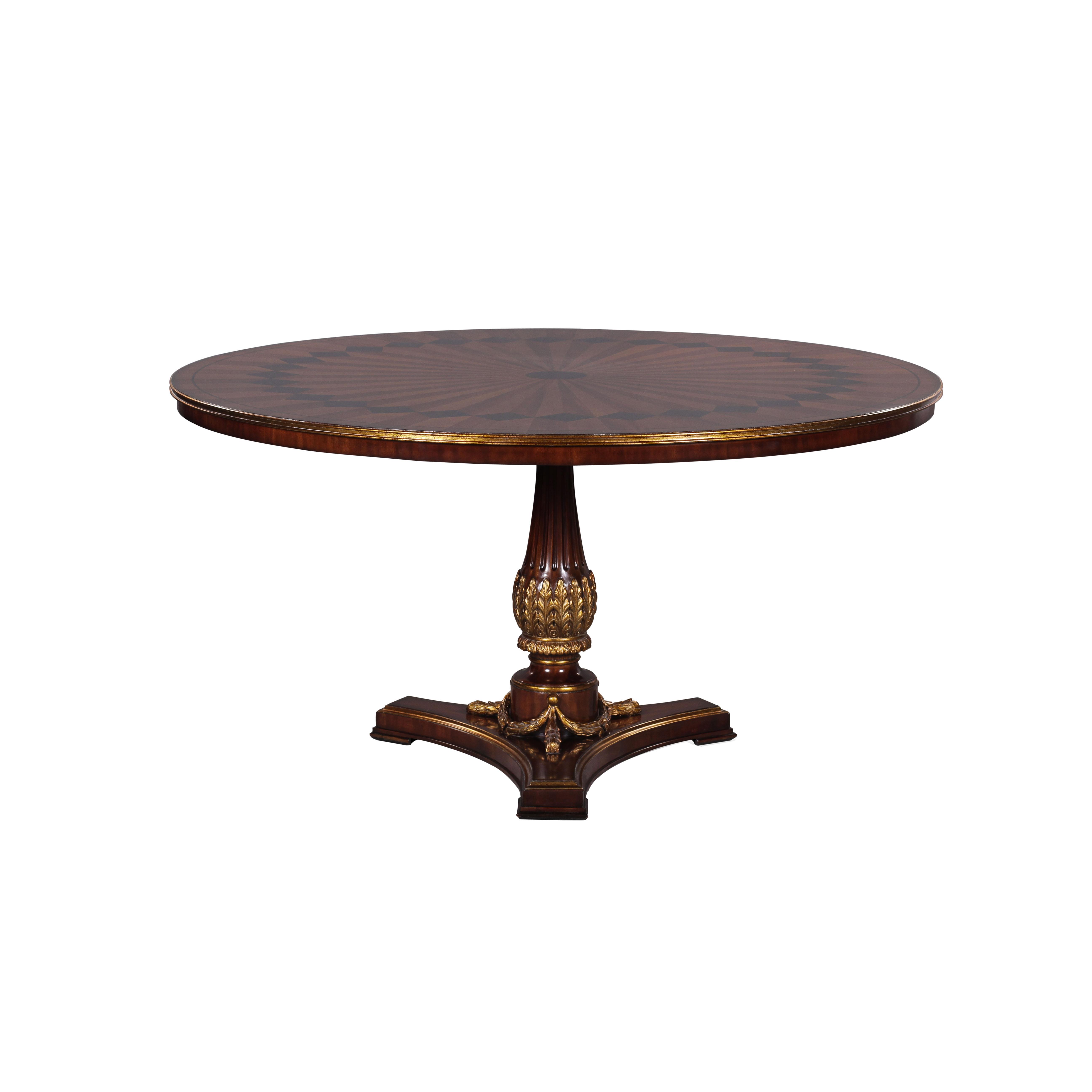 34417 - Dining Table Italian Inlaid 150, EM + NF9