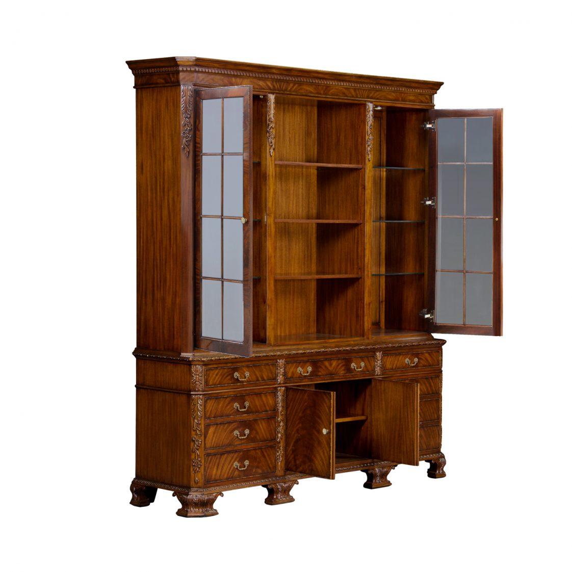 George Ii Bookcase With Light Jansen Furniture