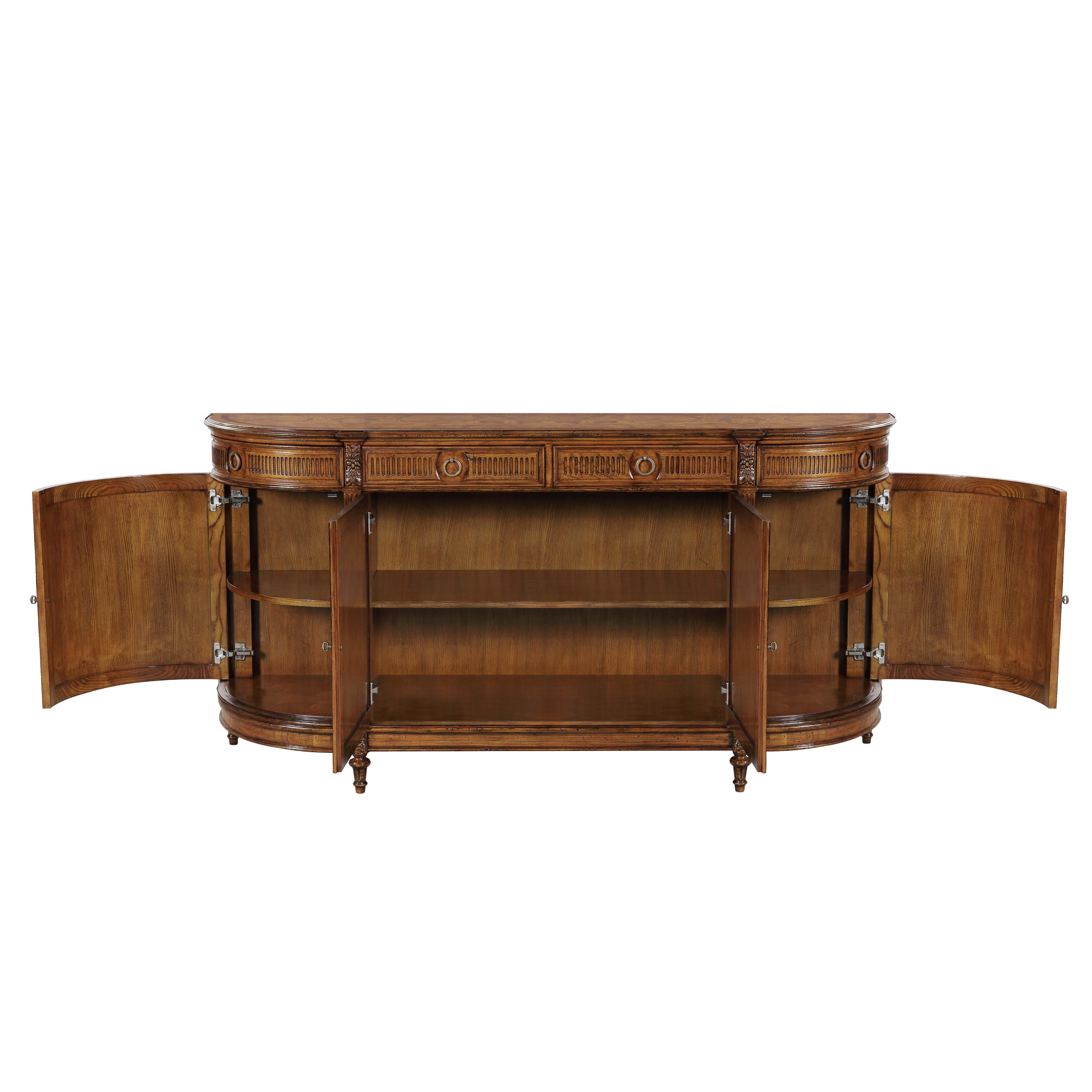 sideboard oak front nestnordic open sterling hutch table black zillo product