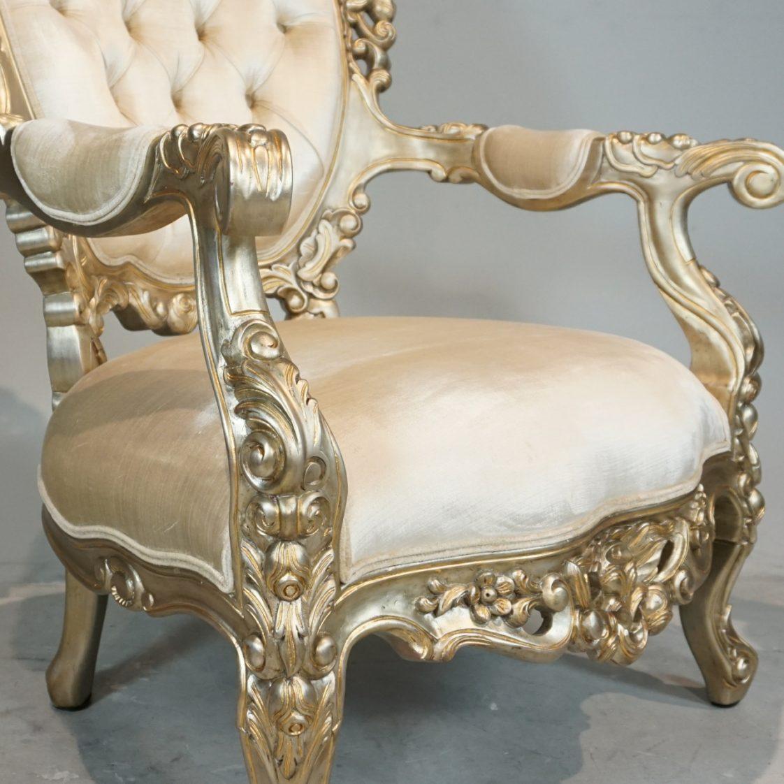 French Rococo Arm Chair Jansen Furniture