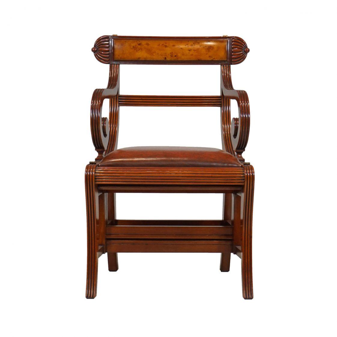 English Regency Library Chair Jansen Furniture