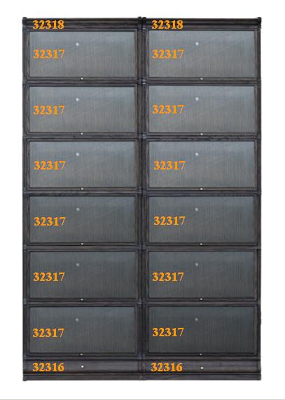 Setting 6_Bookcase Ambassador, 32316 Base, 32317, 32318 Top, OSCURO, 183116 BV