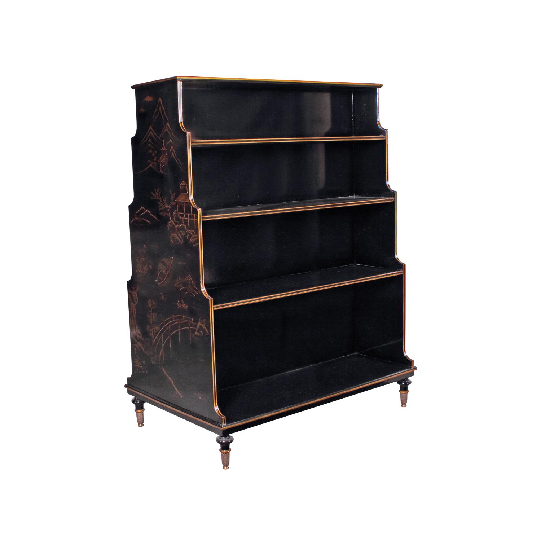 34284-Book-Rack-Chinoiserie,-Chinoiserie-Black,-New2016---3