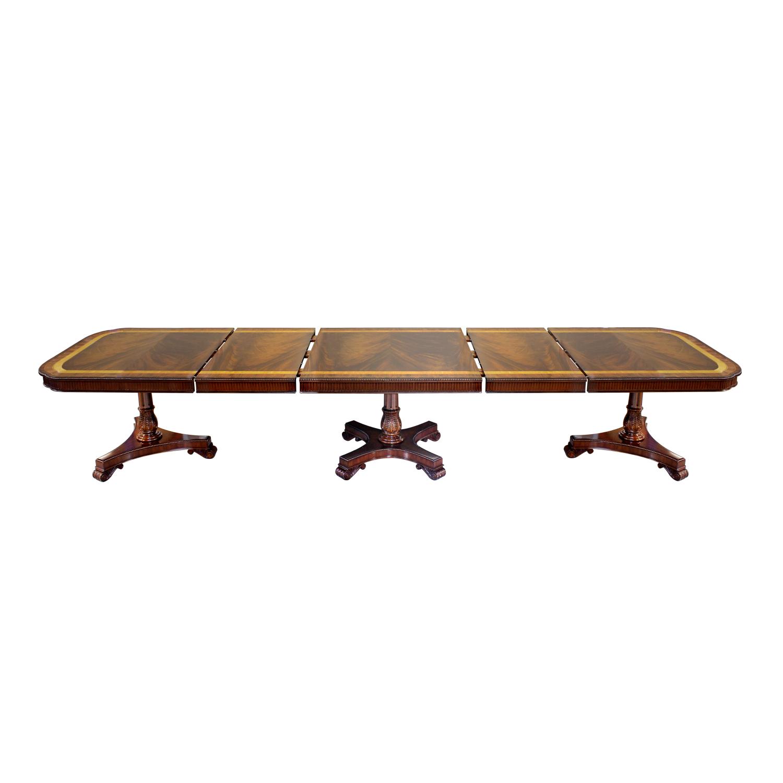 33781--Dining-Table-Mullova-3-Ped-2-Leav-EM,-(2)