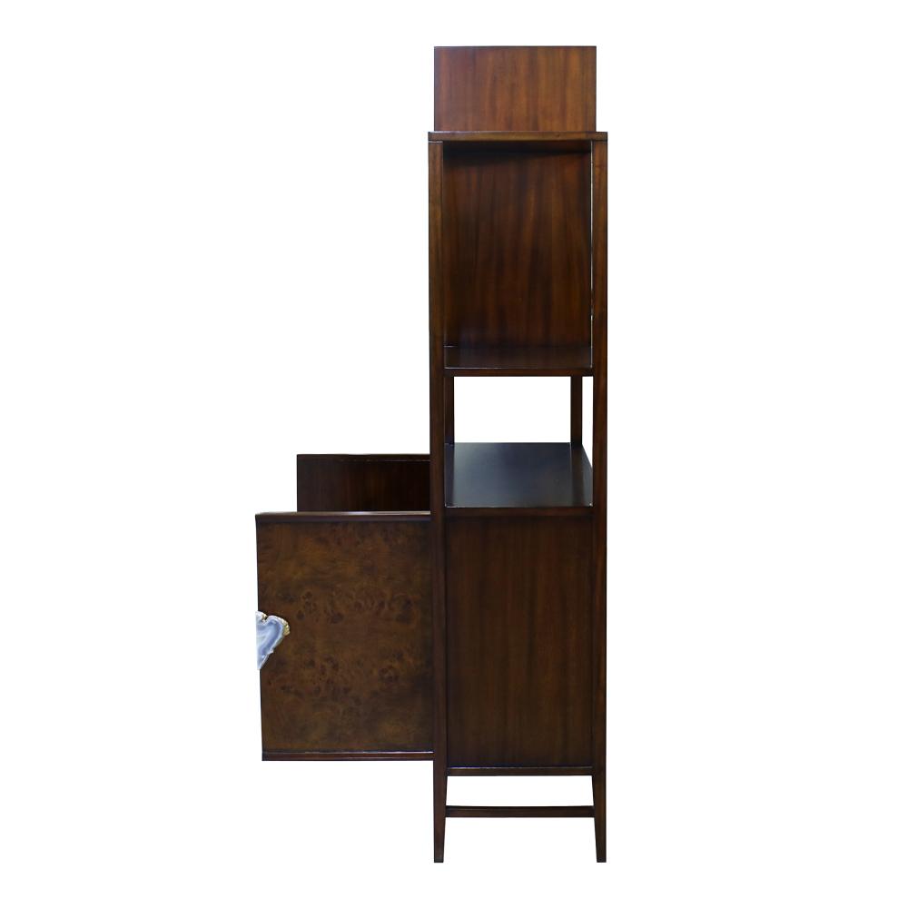 34532---Cabinet-Shelving,-Right,-EM,-Door-Burl,--(4)
